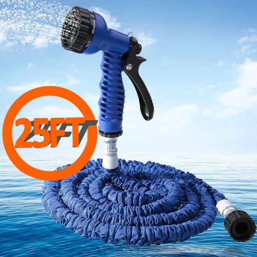 Spray Gun 200FT Expandable Garden Hose Latex Tube Magic Flexible
