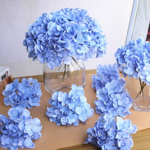 10pcs lot Colorful Decorative Flower Head Artificial Silk Hydrangea DIY Home Party Wedding Arch Background Wall