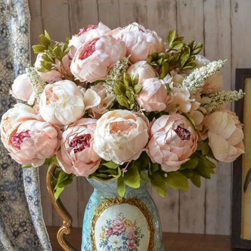 1Bunch European Artificial Peony Decorative Party Silk fake Flowers Peonies For Home Hotel decor DIY Wedding