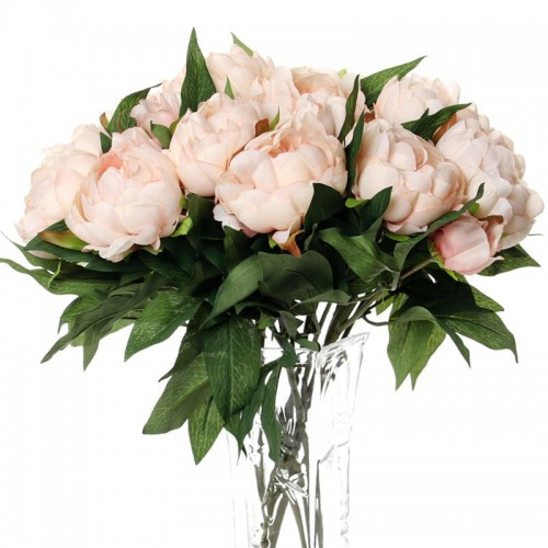 1Pc Silk Artificial Peony Flowers flores artificiais para decora o artificiales for Home wedding decoration fake
