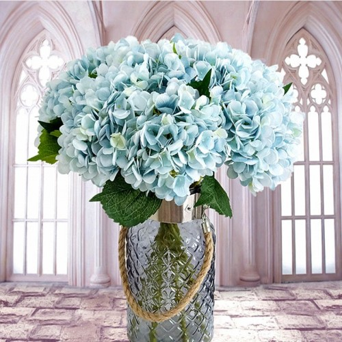 Artificial flowers cheap Silk hydrangea Bride bouquet wedding home new Year decoration accessories for vase flower