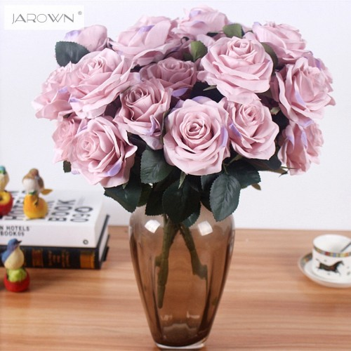 Artificial silk 1 Bunch French Rose Floral Bouquet Fake Flower Arrange Table Daisy Wedding Flowers Decor