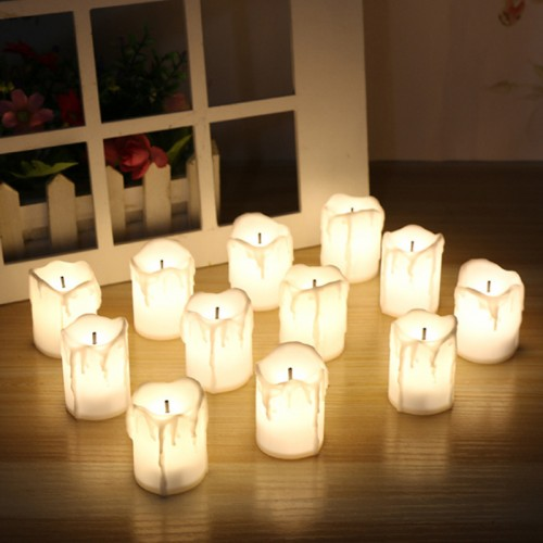 12 PCS of LED Electric Battery Powered Tealight Candles Warm White Flameless for Holiday Wedding