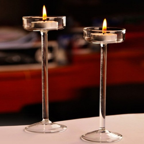 Elegant Romantic Creative Goblet Designed Glass Candle Holder Supplies Candlestick Valentine s Day Home Decoration Light