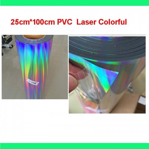 1 sheet 10 x40 25cmx100cm Laser colorful PVC Heat Transfer Vinyl Heat Press T