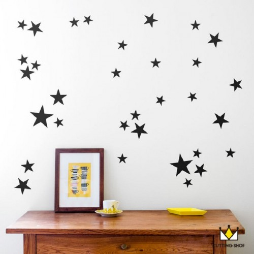 110pcs 5 4 2 5cm 3size mix Star pattern cute Wall decal film for kids Easy