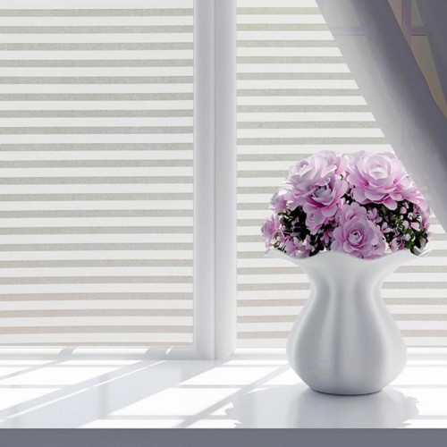 45 100CM 60 200CM Frosted Stained White Frosted Line Blind Style Privacy Stripe Window Film Glass