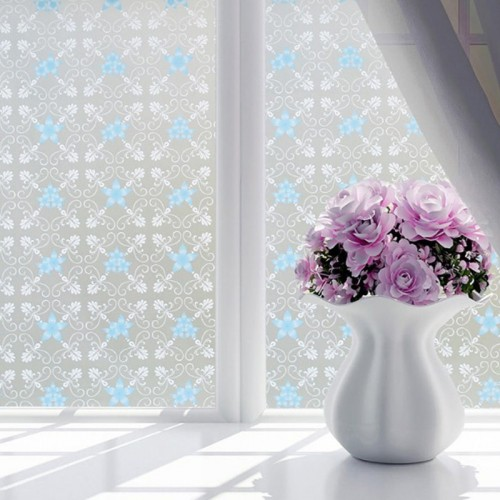 9 Style Waterproof PVC Frosted Opaque Glass Window Privacy Film Glass Sticker Bedroom Home Decorative Film