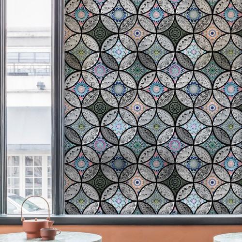 Static window sticker Glass Film privacy Home Decor decorative stained glass window film 45 60 90x200cm