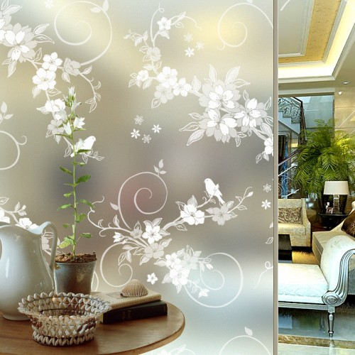 Wide 45 60 90cm Frosted Glass Self Adhesive Glass Window Film Privacy Window Stickers Vinyl Home
