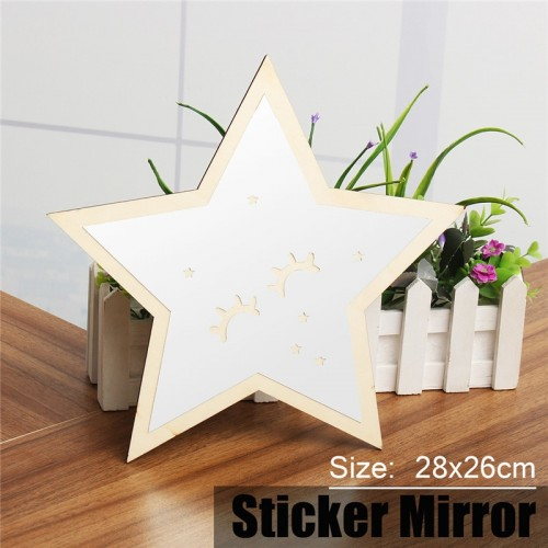 3D Star Acrylic Wall Sticker Mirror Home Furnishing Room Wall Ornaments Decor Decorative Mirrors Home Decor