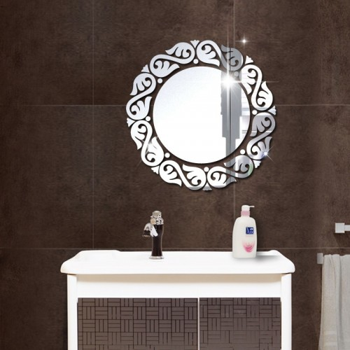 Acrylic DIY decorative mirror wall stickers environmentally friendly high quality living room bedroom decorative mirror
