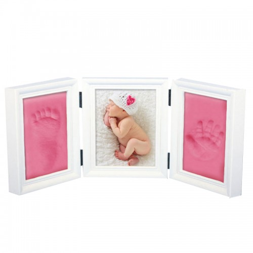 Baby Photo Frame Diy Footprint Handprint Imprint Cast Set Picture With Soft Clay cover Novelty