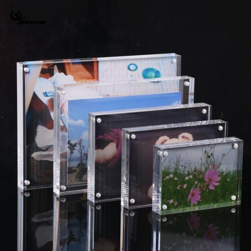 DIY Acrylic Transparent Photo Frame Rectangle Magnet Picture Frame High Quality Frames for Home Decor Birthday