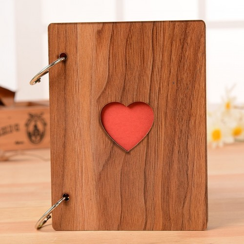 New 6inch Creative Heart Wood Photo Frame Fashion Graduation Photo Album Frames Ornaments Home Crafts Photo