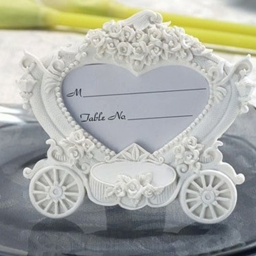 Pumpkin Cart Photo Frame Warm Wedding Baby Kids Picture Frame Name Memo Card Holder