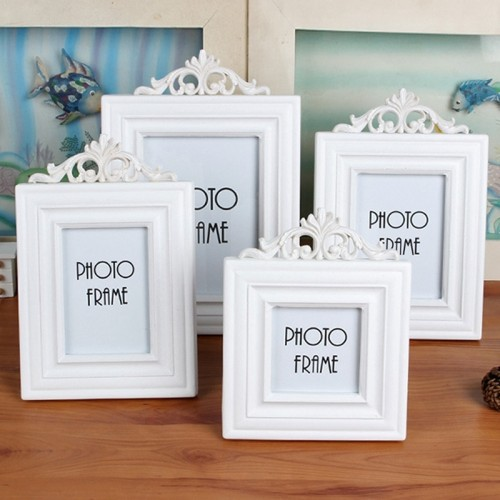 White Wood Photo Frame Creative Photo Frames for Picture Vintage Children Photograph Props Wedding Home