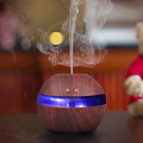 300ml Air Aroma Essential Oil Diffuser USB Ultrasonic Humidifier Blue LED Aroma Fragrance Diffuser Machine Nebulizer