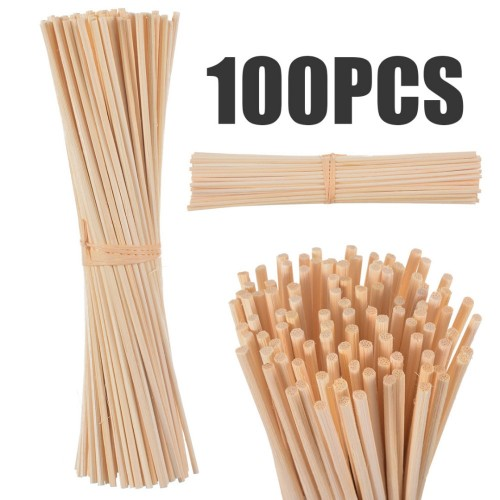 30Pcs 100Pcs Rattan Reed Sticks Fragrance Reed Diffuser Aroma Oil Diffuser Rattan Sticks for Home Bathrooms