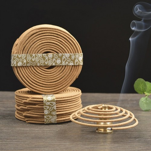 48pcs box Natural Coil Incense Aromatherapy Fragrance Indoors Indian Buddhist Sandalwood Incense Without Censer
