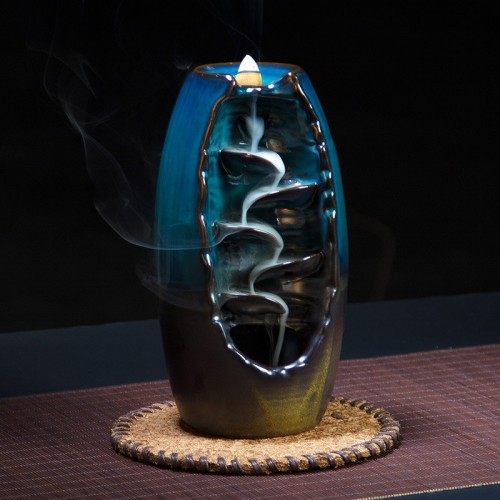 Backflow Incense Burner Ceramic Aromatherapy Furnace Smell Aromatic Home Office Incense Road Crafts Tower Incense Holder