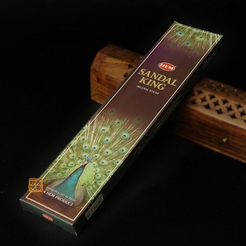 King Peacock sandalwood incense Rich aroma lasting Brighten the mood Increase positive energy 20 incense sticks