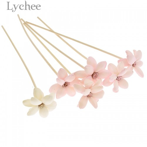 Lychee 5pcs Flower Rattan Reeds Fragrance Diffuser Non fire Replacement Refill Sticks Home Living Room Aromatic
