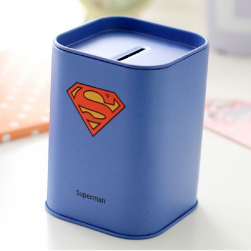 1 X Superhero Money Box Creative Penholder Kids Birthday Christmas Piggy Bank