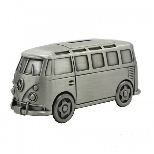 1PCS Vintage Metal Bus model Money Boxes Aircraft Dinosaur piggy bank Children toy car Saving Coins