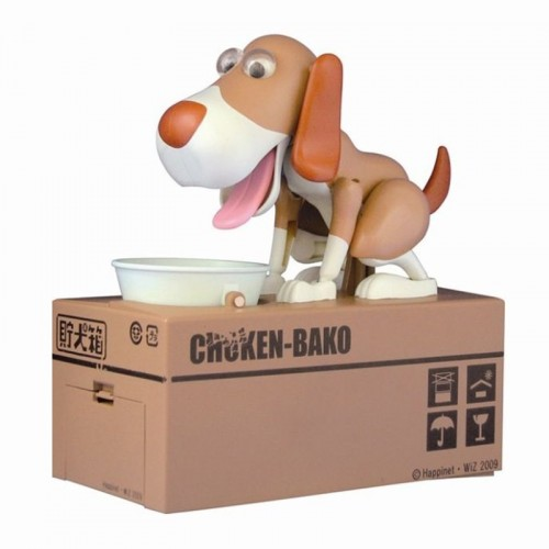 1pcs Cartoon Robotic Dog Banco Money Box Money Bank Automatic Stole Coin Piggy Bank Money Saving