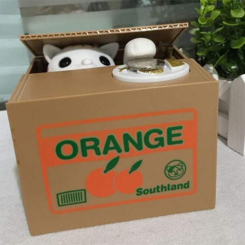 Cat money bank panda Thief Money boxes toy piggy banks kids money boxes Automatic Stole