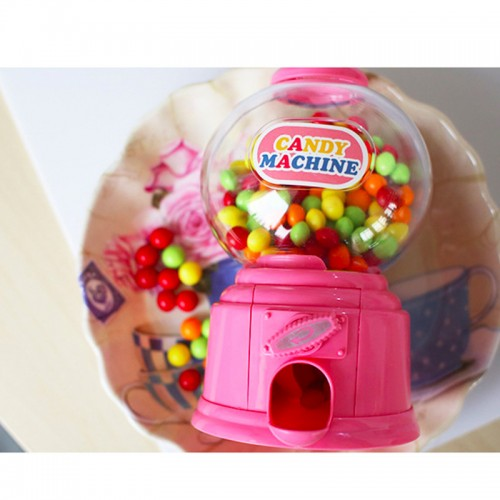 Creative New Cute Sweets Mini Candy Machine Bubble Gumball Dispenser Coin Bank Kids Toy