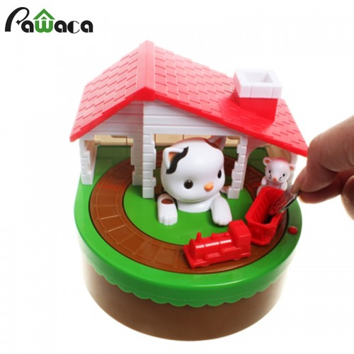 Cute CAT MOUSE BANK Coin Save Money Box Toy Banks Collecting Saving Money Bank Creative