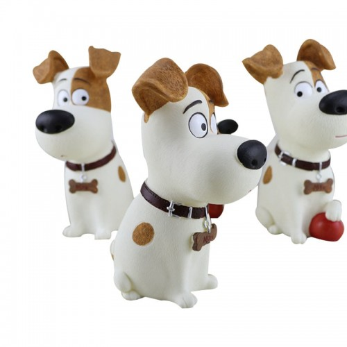 Cute Dog Piggy Bank Figurines Resin Dispenser Coin Bank Christmas Children Money Boxes Desktop Decor