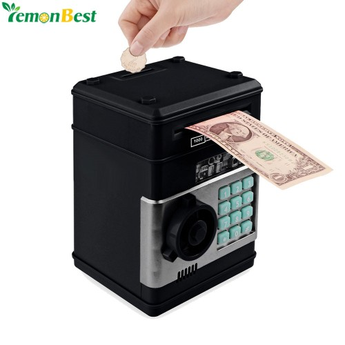 Electronic Piggy Bank ATM Password Money Box Cash Coins Saving Box ATM Bank Safe Box Automatic