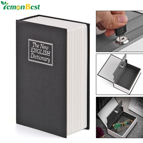 English Dictionary Safe Book Bank Shaped Piggy Bank Metal Coin Bank Money Box Figurines Saving Money
