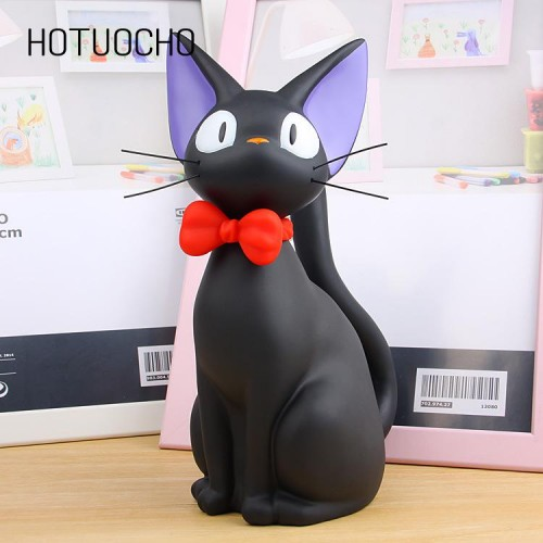 Hotuocho Black Cat Saving Box Animal Figurines Money Box Animal Coin Bank Home Decor Modern Style