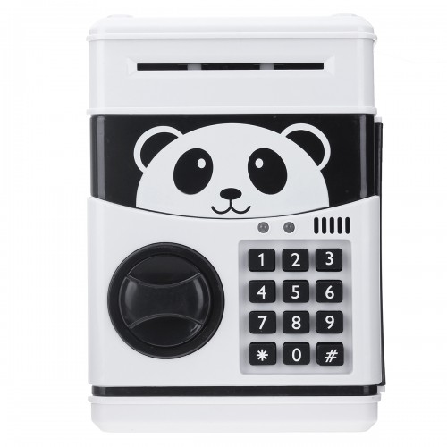 Panda Electronic Piggy Bank ATM Password Money Box Cash Coins Saving Box Bank Safe Box Automatic