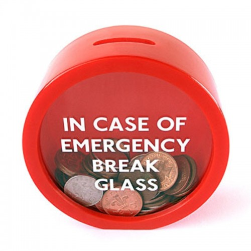 Unique design Safe Red MoneyBox Saving Bank Emergency Coin Smash Piggy Bank 11 5 11 5