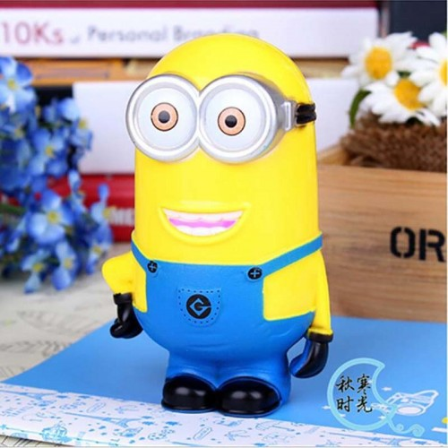 Yellow Piggy Bank Safe Child Gift Cartoon Money Bank CoinBox Kids Present MoneyBox CoinBank Cash Saving