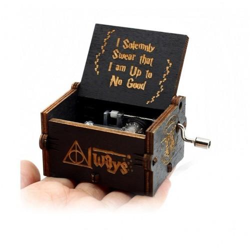 Antique Engraving Music Box New Year Birthday Present Christmas Theme Music