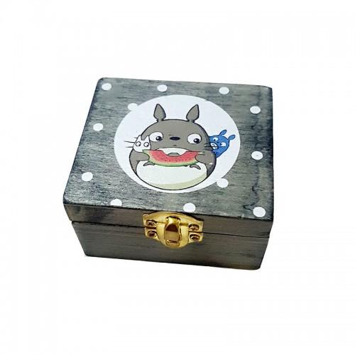 Cartoon Totoro Wooden Music Box Newest Miyazaki Movie Wooden Crafts Desk Accessories Mini Music