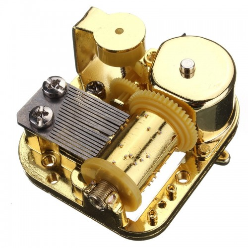 High Standard New Unique 18 Notes DIY Mechanical Musical Box Golden Movement Screws Castle