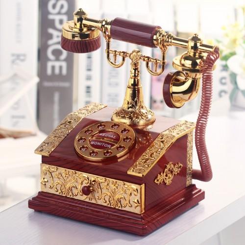Lover Wedding Home decor Music Box Classical Red Telephone Figurine Desktop Jewelry Box Luxurious High