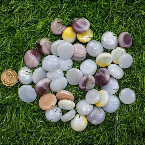 30 Pieces Gravel Pebbles For Aquarium Ornaments Fish Tank & Pots Decore (12)