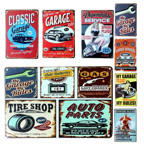 Poster Garage My Tin Signs Plate