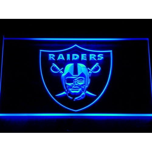 Raiders Football Bar Beer LED Neon