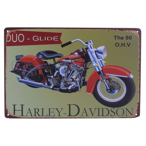 Motorcycle Retro Plaque Poster