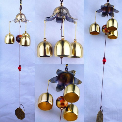 Hanging Wind Chime Bell Chinese Lucky Metal Feng Shui Style