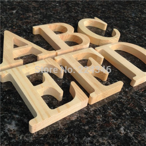Wooden Alphabet Wedding Party Home Decorations Letter